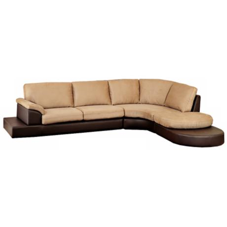3-Piece Atlantic Mocha Microfiber Sectional Sofa Set