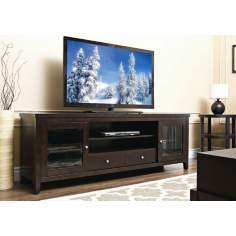 Arlington Espresso Solid Oak TV Stand