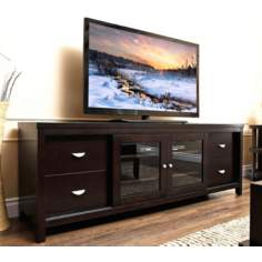 Weston Espresso Solid Oak TV Stand