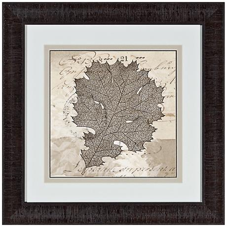 "Sophisticated Botany II 17"" Square Framed Wall Art"