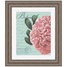 "Botanical Flower I 29 1/4"" High Framed Wall Art"