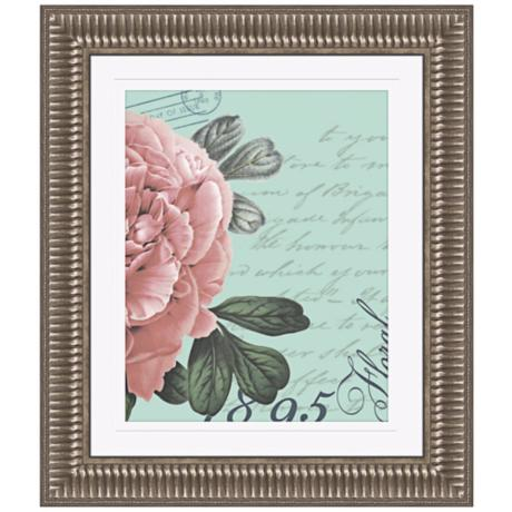 "Botanical Flower II 29 1/4"" High Framed Wall Art"