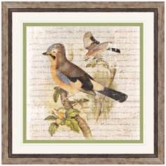 "Flock of Two I 23"" Square Framed Bird Wall Art"