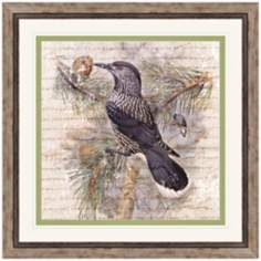 "Flock of Two II 23"" Square Framed Bird Wall Art"