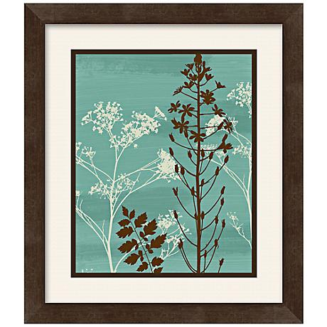 "Silhouette Flower 13 1/2"" Square Framed Wall Art"