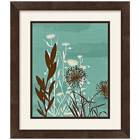 "Silhouette Flower II 13 1/2"" Square Framed Wall Art"