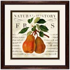 "Pears 18 1/2"" Square Fruit Wall Art"