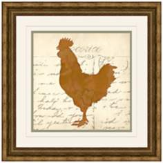 "Cocorico II 17"" Square Chicken Wall Art"