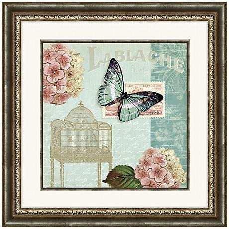 "Botanical Garden I 24"" Square Floral Wall Art"