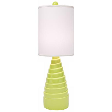 Thumprints Spiral Lime Green Table Lamp