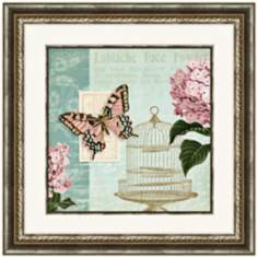 "Botanical Garden II 24"" Square Floral Wall Art"