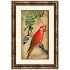 "Parrota II 25 1/2"" High Framed Bird Wall Art"