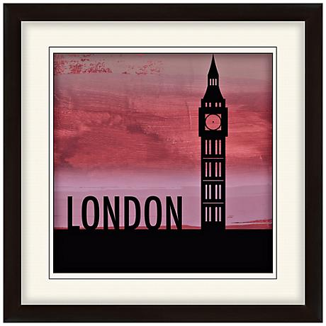 "Nocturnal Landmarks 20"" Square London Wall Art"