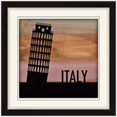 "Nocturnal Landmarks 20"" Square Italy Wall Art"