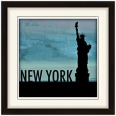 "Nocturnal Landmarks 20"" Square New York City Wall Art"