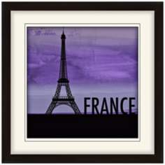 "Nocturnal Landmarks 20"" Square France Wall Art"