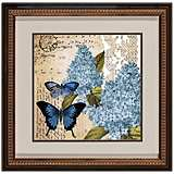 "Botanical Butterflies I 18 1/2"" Square Framed Wall Art"