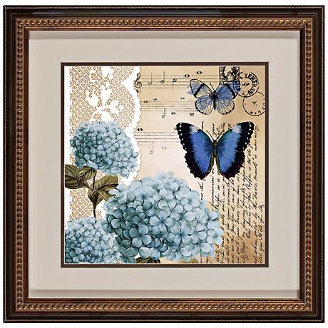 "Botanical Butterflies II 18 1/2"" Square Framed Wall Art"