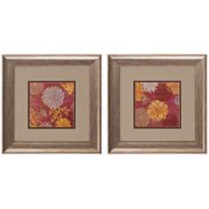 Floral Soiree Set of 2 Art Prints