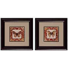Moroccan Butterfly Set of 2 Art Prints