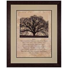 "Life Is...34"" High Framed Tree Wall Art"