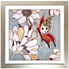 "Butterfly I 30"" Square Framed Wall Art"