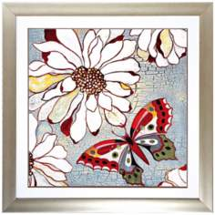 "Butterfly II 30"" Square Framed Wall Art"