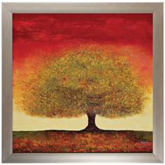 "Dream Tree 30"" Square Framed Landscape Wall Art Print"