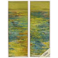 "Lake I and II 36"" High Framed Wall Art"