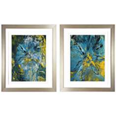 "Sea 34"" High Framed Art Prints Set of 2"