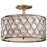 "Feiss Lucia 16"" W Burnished Silver Ceiling Light"