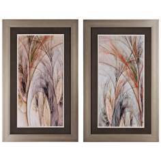 "Set of 2 Grass I/II 32"" High Abstract Wall Art"