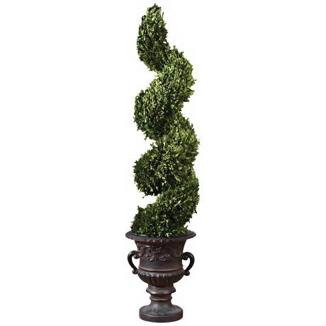 Uttermost Preserved Boxwood Spiral Topiary