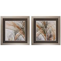 "Set of 2 Grass III/IV 27"" Square Nature Wall Art"