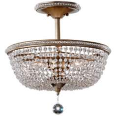"Murray Feiss Dutchess 15 1/2"" Wide Silver Ceiling Light"
