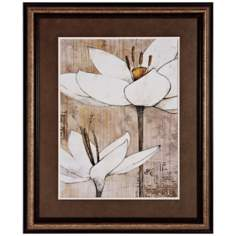 "Pencil Floral I 34"" High Flower Print Wall Art"