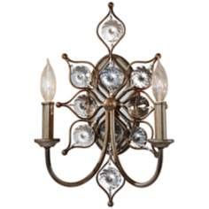 "Murray Feiss Leila 16 1/4"" High Burnished Silver Wall Sconce"