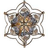 "Feiss Leila 9 1/2"" High Burnished Silver Wall Sconce"
