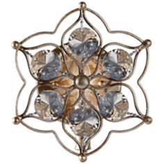 "Murray Feiss Leila 9 1/2"" High Burnished Silver Wall Sconce"