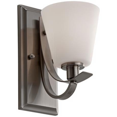 "Murray Feiss Spectra 10"" High Brushed Steel Wall Sconce"
