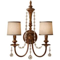 "Murray Feiss Clarissa 16 3/4"" Wide Firenze Gold Wall Sconce"
