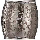 "Feiss Zara 8"" Wide Brushed Steel Wall Sconce"