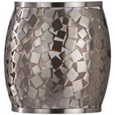 "Murray Feiss Zara 8"" Wide Brushed Steel Wall Sconce"