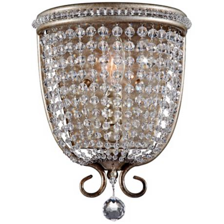"Murray Feiss Dutchess 11 1/2"" High Silver Wall Sconce"