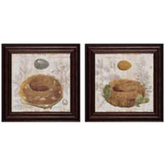 "Set of 2 Nest III/IV 16"" Square Nature Wall Art"