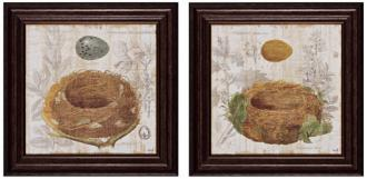 "set of 2 nest iii/iv 16"" square nature wall art (x2370)"