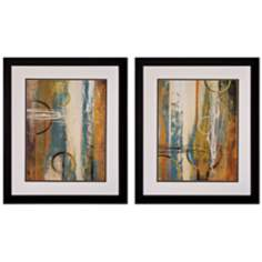 "Set of 2 Earthbound I/II 28"" Abstract Wall Art"
