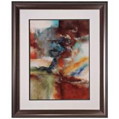 "Rare Earth I 35"" High Framed Abstract Wall Art"