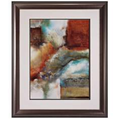"Rare Earth II 35"" High Abstract Collage Wall Art"
