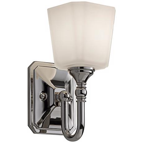 "Feiss Concord 10 1/4"" High Nickel Wall Sconce"